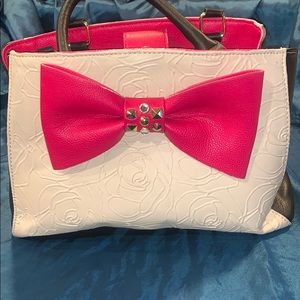 Betsey Johnson Pink Bow Purse